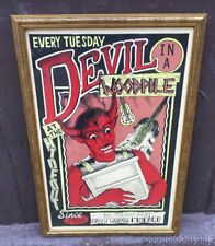 Devil in a Woodpile Concert Poster At The Hideout Bar Chicago Roberto Valadez
