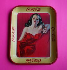 Mexican Mexico tray Soda Coca Cola Woman Red Dress pin up 1940s RARE