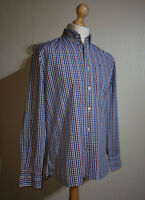 Tommy Hilfiger Check Shirt Red/White/Blue Mens Size M 80s Two Ply Cotton