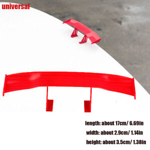 17cm Mini Auto Car Rear Tail Spoiler Wing Decoration Clear Universal Red