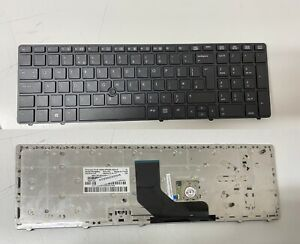 HP ProBook 6560B 6565B 6570B Laptop Keyboard + TrackPoint And Frame UK Black