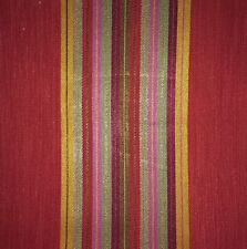 MANUEL CANOVAS Sierra Woven Stripe Garance Red Green Pink Remnant New
