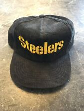 Vintage Pittsburgh Steelers corduroy snap back hat Retro throwback deadstock