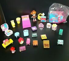 Shopkins Mixed Lot 25 Household Items Doll Furniture Tables Bed Lamps Fireplace