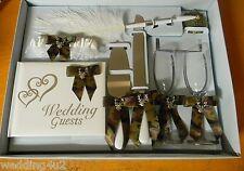 Wedding Ceremony Camo Deer Hunting Hunter (8) Piece Set Guest Book Glasses Pen