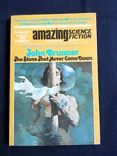 AMAZING STORIES  - SCIENCE FICTION - US MAGAZINE - OCT 1973 -JOHN BRUNNER