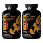 memory support - L-Tyrosine 500mg - antidepressant pills - 2 Bottles