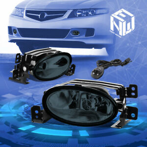 For 06-08 Acura TSX CL9 Smoked Lens Front Driving Fog Lights+Switch Replacement