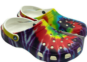 Crocs Classic Tie-Dye Graphic Clog Women's Size 9 - New with Tags!