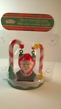 SOLAR POWERED SWINGING SANTA CLAUS ON CANDY CANES CHRISTMAS HOME DECOR