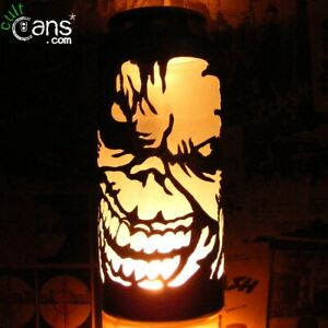 Iron Maiden 'Eddie' Beer Can Lantern! Pop Art Portrait Candle Lamp