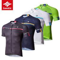 -Santic Men MTB Short Sleeve Cycling Short Jersey Sleeve Cuff Road Bike 4 Colour