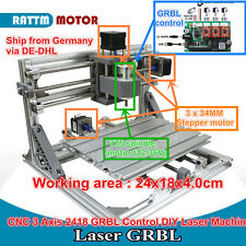 【IT*EU】CNC Mini 2418 DIY Pcb Milling Woodwork Desktop Engraving Router Machine