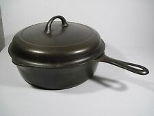 Griswold Deep Fryer Skillet Pan Small Logo 777  w/ Griswold Lid 1098 Cast Iron