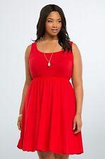 NWT Torrid Red Bow Back Skater Dress Women's Plus Size 4X 26 (WW13)