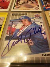 Keith Miller - 1989 Fleer Autographed Baseball card # 45 - N.Y. Mets - 2B