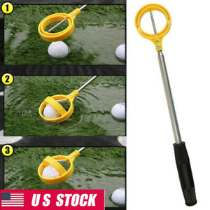 8 Sections Long Hard Golf Ball Retriever Picking Automatic Locking Scoop Pickers
