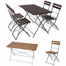 Biergarten-Garnitur Berlin, Garten-Garnitur, Tisch 4x oder 2x Stuhl