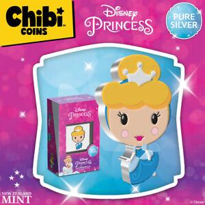 2021 Niue Disney Princess CINDERELLA Chibi 1oz Silver Proof Coin ~ IN HAND