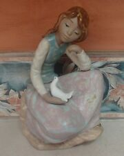 """NAO by Lladro """"Girl with Dove (in lap)"""" LARGE beautiful GRES - MWOB,RV$250"""