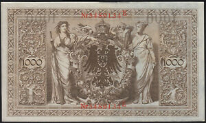 1910 1000 Mark Germany Old Vintage Paper Money Banknote Currency Note Bill XF