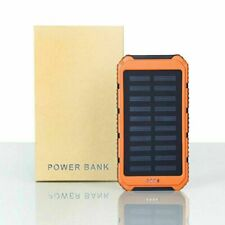 500000mAh Huge Capacity 2 USB Solar Power Bank Backup Pack Battery Charger