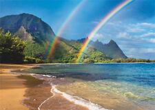 4 Greeting Cards Hawaiian Blank Rainbow Paradise by Monica & Michael Sweet