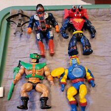 MOTU Vintage Mattel He-Man Masters of the Universe Lot of 4 Figures with weapons