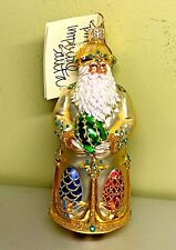 Patricia Breen Imperial Santa Gold Full Size #2232 2002 Signed Glass Glitter