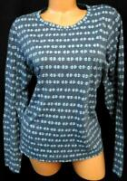 Mossimo supply co. gray white bow print long sleeve scoop neck plus size top XXL