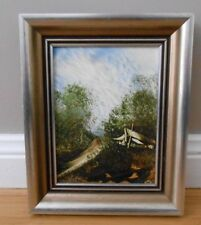 Jim Crofts Framed Original Oil Painting Depicting a Shed in a Bush Scene