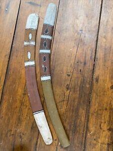 Nice Pair of Old Painted Aboriginal Boomerangs North Western Australia
