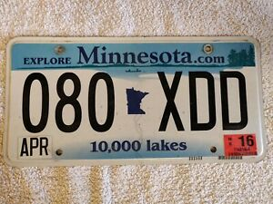 MINNESOTA **CLEARANCE SPECIAL £3.99** Genuine Pre-Owned USA License Plate