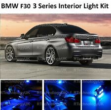 BLUE PREMIUM BMW 3 SERIES F30 INTERIOR PURE FULL UPGRADE LED LIGHT BULBS KIT