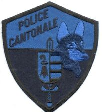 SWISS POLICE CANTONALE K9 POLICE BLUE PATCH