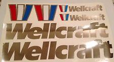 Wellcraft boat emblem Chrome sticker Marine Vinyl  decals