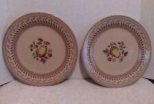 Johnson Bros, Staffordshire Old Granite Fruit Sampler,  Dinner Plates  lot of 2