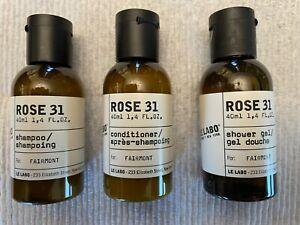 Le Labo Rose 31 - Travel Size - Shampoo, Conditioner & Shower Gel 1.4 oz. each