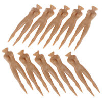 10Pcs/lot 70mm Plastic Naked Nude Lady Golf Tee Golf Model Beauty Ball Nails NT