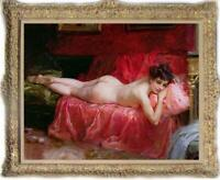 "Hand painted Old Master-Art Antique Oil Painting nude girl on canvas 30""x40"""