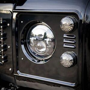 Land Rover Defender Santorini Black Headlight Surrounds - Uproar 4x4