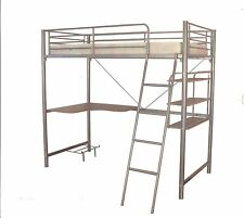 Mel's Silver Single Steel Loft Bunk Bed  - BRAND NEW