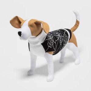 NEW Hyde & EEK! Boutique Spiderweb Halloween Dog Sweater - M