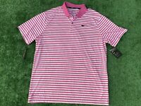 NWT Men's Nike Dry Victory Large Striped Golf Polo XL Shirt Dri-Fit MSRP $55