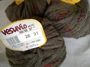 Knitting Yarn ~ Adriafil Vesuvio ~ a wool blend super chunky shade 26 in brown