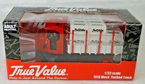 "Ertl 2005 True Value Hardware 1918 Mack Flatbed Truck 7"" Long Mint Never Opened"