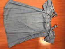 Dotti Off The Shoulder Denim Dress Size 14