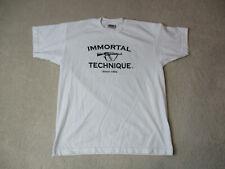 VINTAGE Immortal Technique Shirt Adult Large White Guerrilla Republik Rap Tee *