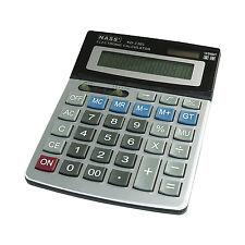 Calculatrice à grande touche de bureau solaire à grand ecran 12 chiffres