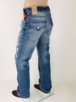$249 Rays of Blues True Religion Men Jeans 30 31 32 33 34 36 38 Straight Rips